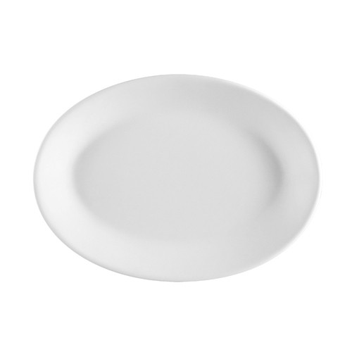 CAC China FR-14 Franklin Rolled Edge Oval Platter, 12 1/2""