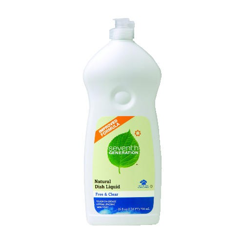 Free & Clear Natural Dishwashing Liquid, Non-Toxic, 25 Oz. Bottle