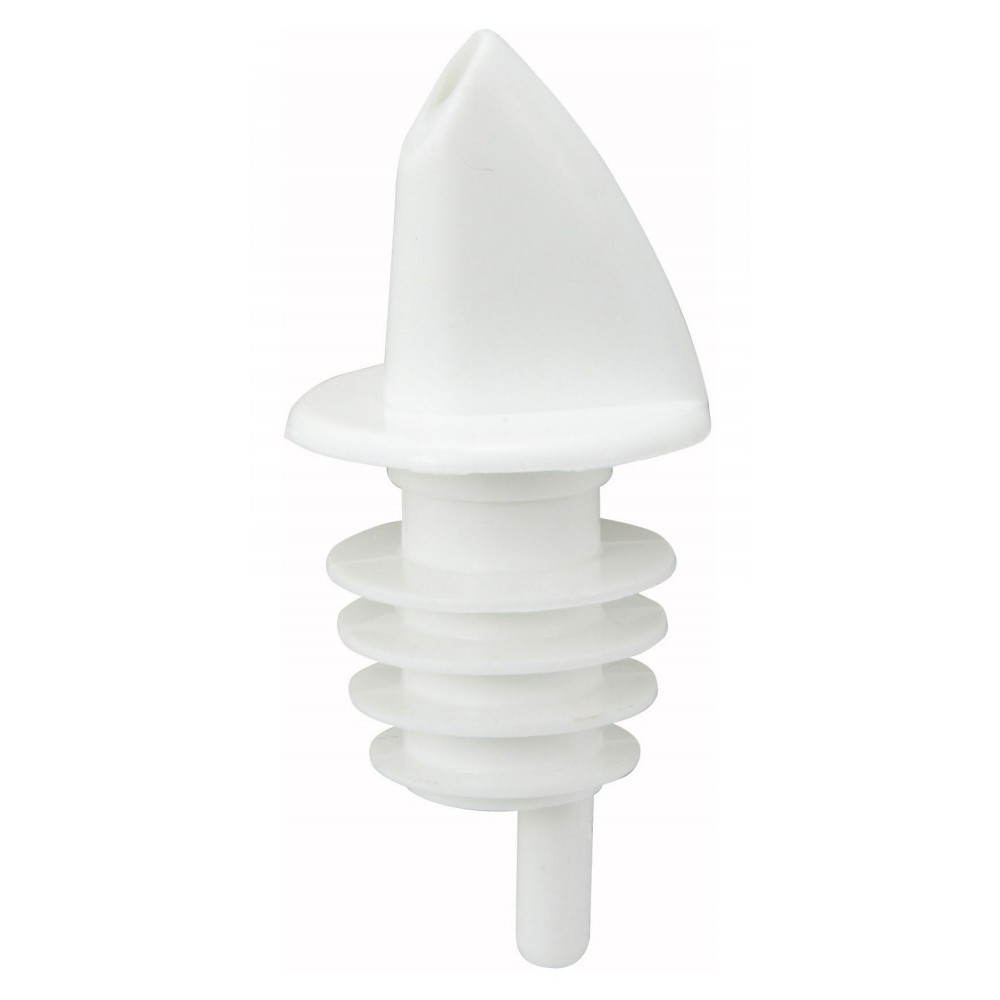 Winco ppr-2w Free Flow Pourer, White