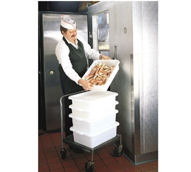 """TableCraft F1529 Freezer-Proof Polyethylene Food Storage Box 21.25"""" x 15.75"""" x 5"""""""