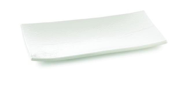 "TableCraft M2010 Frostone Rectangular Melamine Tray 19-1/2"" x 10-1/2"""