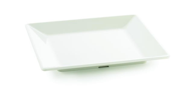TableCraft M1414 Frostone Square Melamine Tray 14""