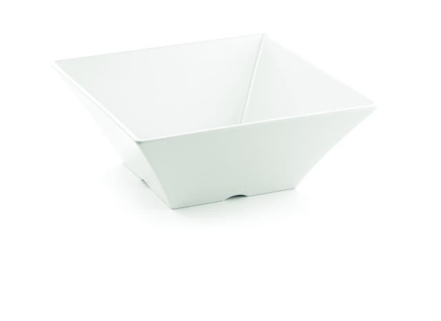 Frostone Collection Square Melamine Bowl - 12-1/4