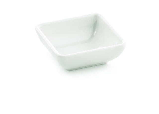 "TableCraft MB21 Frostone Square Melamine Sauce Dish 3"" x 1"""