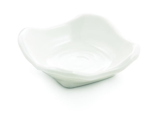 "TableCraft MB31 Frostone Square Melamine Sauce Bowl 3-1/2"" x 1"""