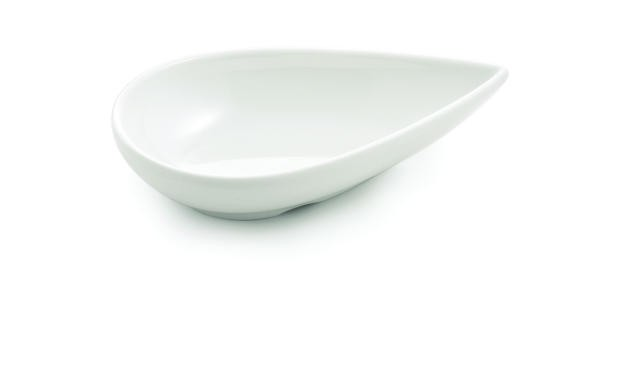 TableCraft MB51 Frostone Teardrop Sauce Melamine Bowl 4-1/2 x 1""