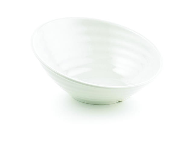 Frostone Glitter Round Sloped Melamine Bowl - 12
