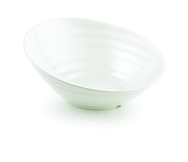 TableCraft MBT167 Frostone Glitter Round Sloped Melamine Bowl 6 Qt.