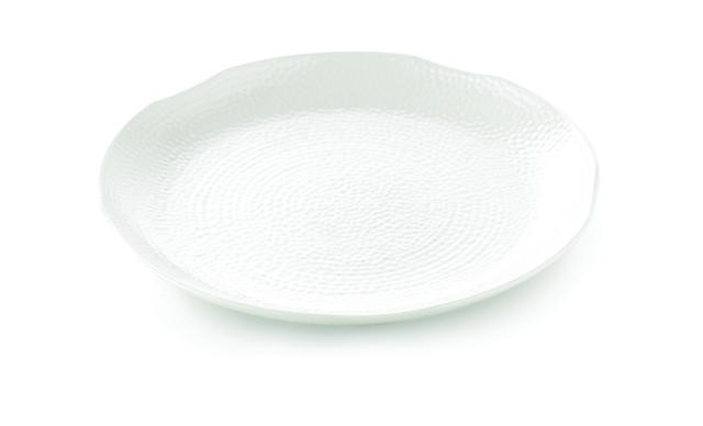 TableCraft M18 Frostone Pebbled Melamine Round Tray 18""