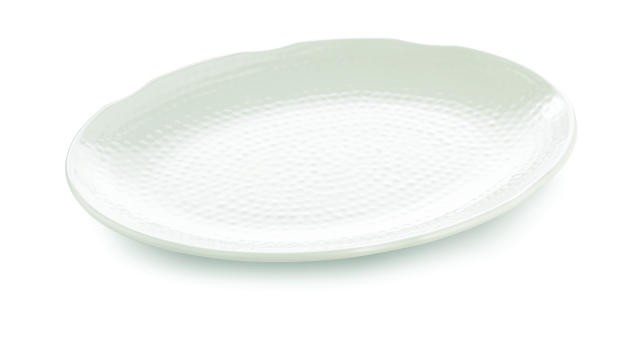 Frostone Pebbled Pattern Oval Melamine Tray - 20