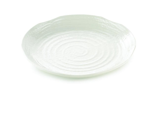 TableCraft M14 Frostone Pebbled Round Melamine Tray 14""