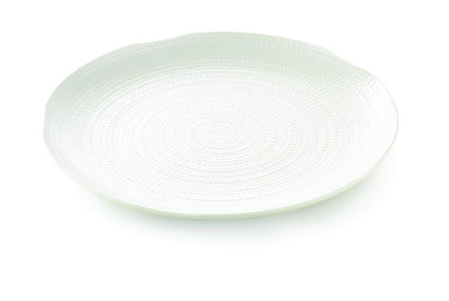 Frostone Pebbled Pattern Round Melamine Tray - 22