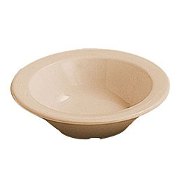 Thunder Group NS303T Nustone Tan Melamine Fruit Bowl 4 oz., 4-3/4""