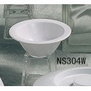 Thunder Group NS304W Nustone White Melamine Fruit Bowl 5 oz., 4-3/4""