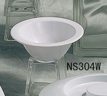 Thunder Group NS304W Nustone White Melamine Fruit Bowl 5 oz.
