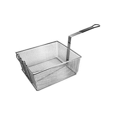 "Franklin Machine Products  225-1073 Fry Basket with Front Hook/Teal Handle 13"" x 12-1/4"""