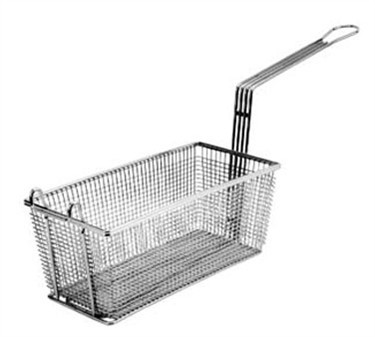 "Franklin Machine Products  225-1054 Fry Basket with Triple Front Hooks 17-1/8"" x 5-3/4"""