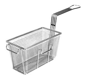 "Franklin Machine Products  225-1018 Fry Basket with Twin Front & Left Hooks 9-3/8"" x 4-7/8"""
