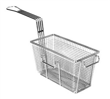 "Franklin Machine Products  225-1019 Fry Basket with Twin Front & Right Hooks 9-3/8"" x 4-7/8"""