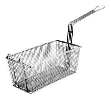 Fry Basket With Twin Front Hooks - 17-1/8