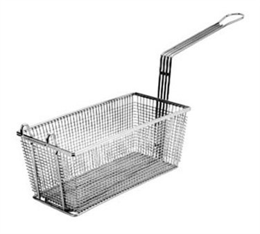 "Franklin Machine Products  225-1034 Fry Basket with Twin Front Hooks 10"" x 4"""
