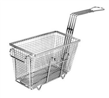 "Franklin Machine Products  225-1005 Fry Basket with Twin Left Hooks/Feet 9-3/8"" x 4-3/4"""