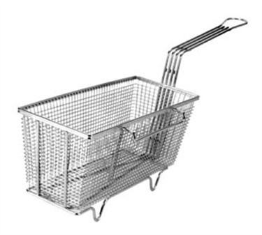 "Franklin Machine Products  225-1007 Fry Basket with Twin Left Hooks/Feet 13-1/4"" x 5-5/8"""