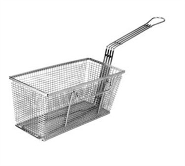 "Franklin Machine Products  225-1037 Fry Basket with Twin Left Hooks 13-1/4"" x 5-5/8"""