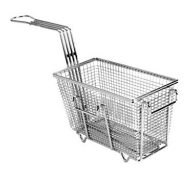 "Franklin Machine Products  225-1004 Fry Basket with Twin Right Hooks/Feet 9-3/8"" x 4-3/4"""