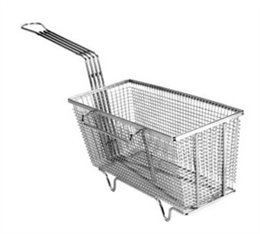 "Franklin Machine Products  225-1006 Fry Basket with Twin Right Hooks/Feet 13-1/4"" x 5-5/8"""