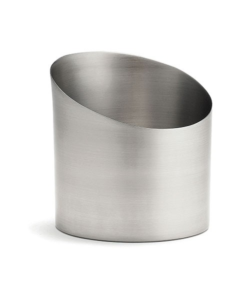 "TableCraft R44 Brushed Stainless Steel Fry Cup, 3-3/4"" x 4"