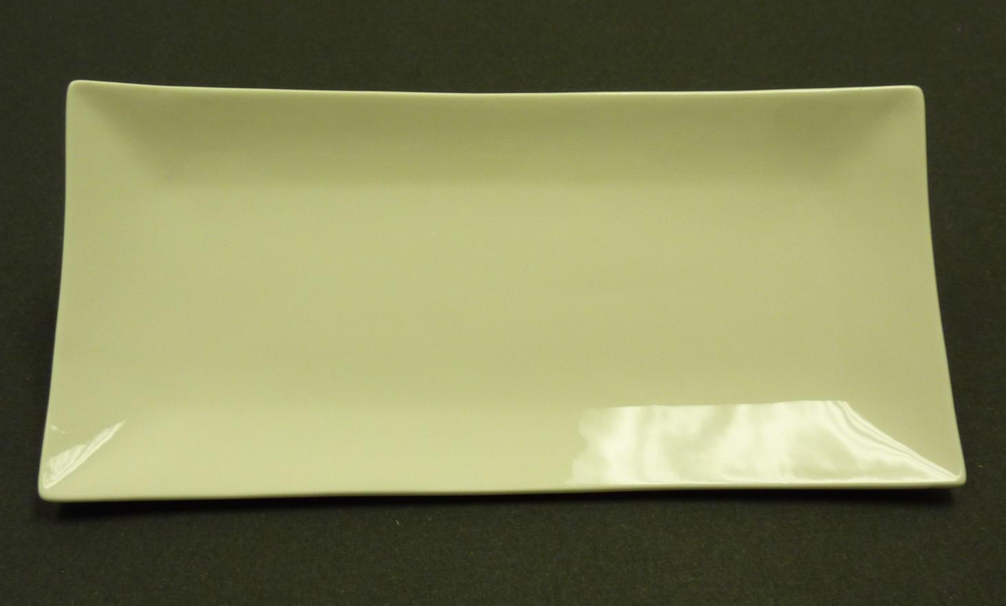 "Yanco fu-214 Fuji 13 1/2"" x 6-1/2"" Rectangular Sushi Plate"