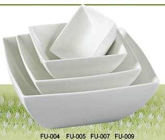 "Yanco FU-009 Fuji 9"" Square Bowl 72 oz."