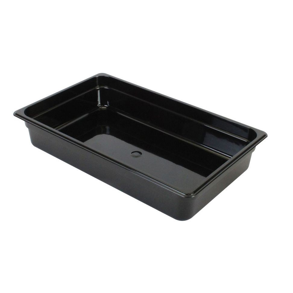 "Thunder Group PLPA8004BK Full Size 4"" Deep Plastic Food Pan, Black"