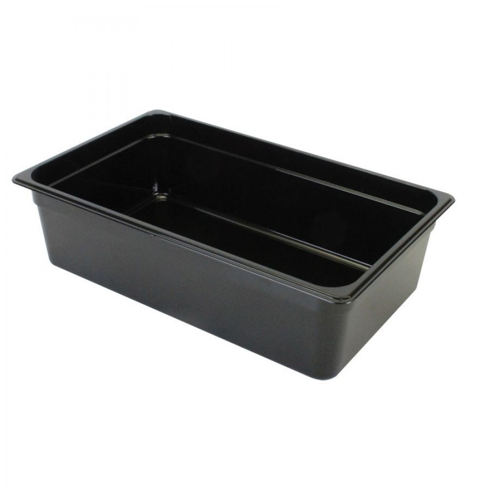 Thunder Group PLPA8006BK Full Size Plastic Food Pan, Black