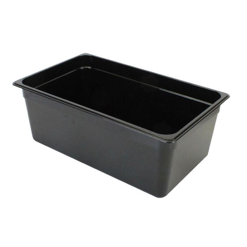 "Thunder Group PLPA8008BK Full Size 8"" Deep Plastic Food Pan, Black"