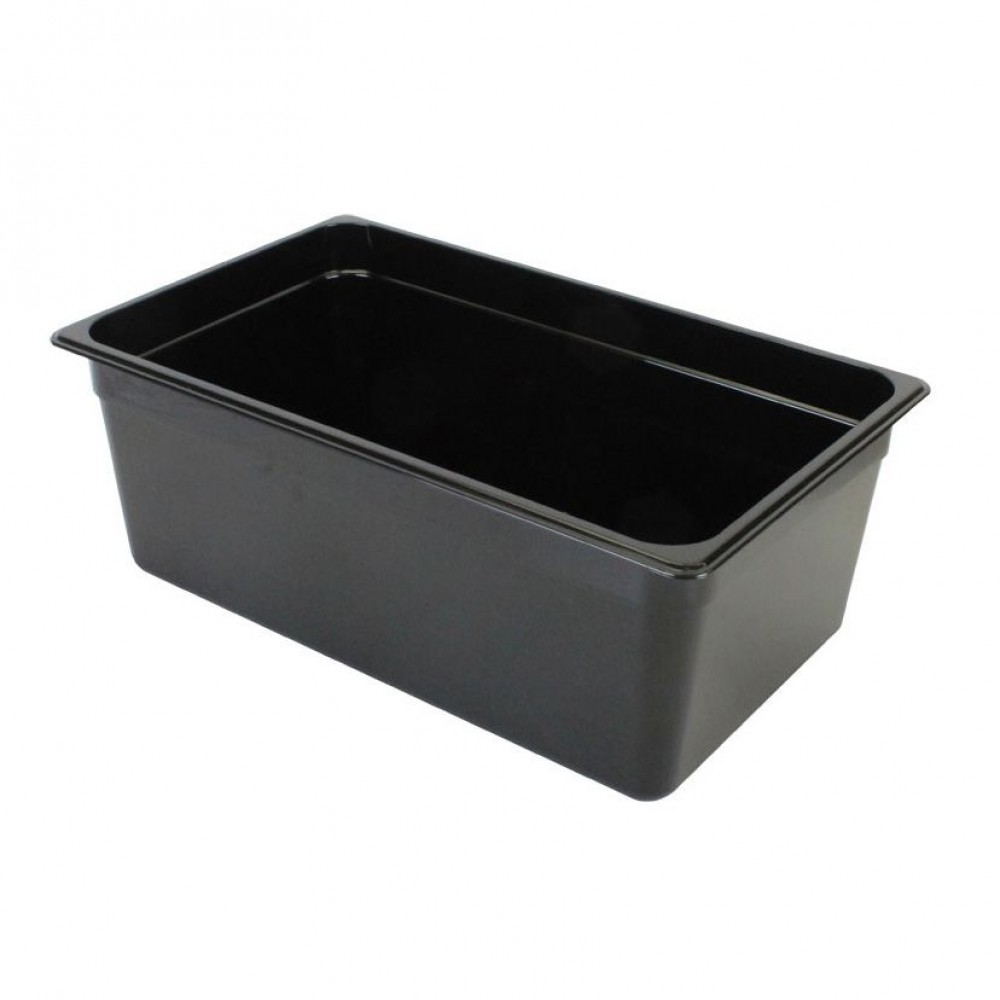 "Thunder Group PLPA8008BK Full Size 8"" Deep Plastic Food Pan, Black"