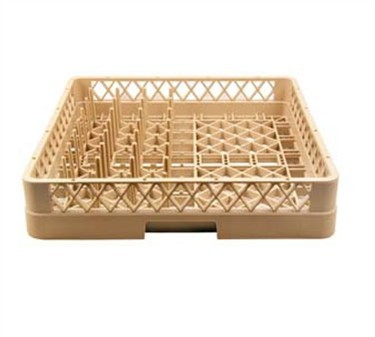 Full Size Beige Stackable Plastic Combo Rack
