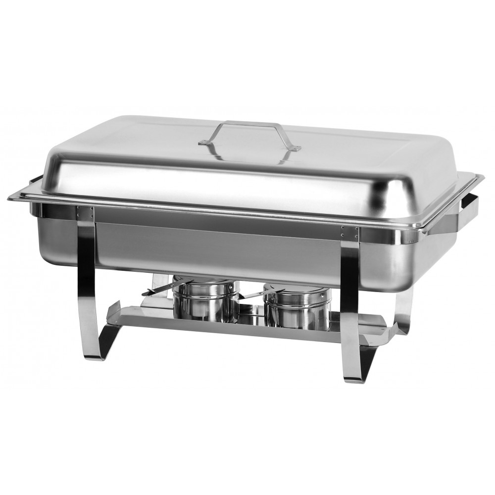 Full Size Chafing Dish With Stainless Steel Pan and Lift Up Lid