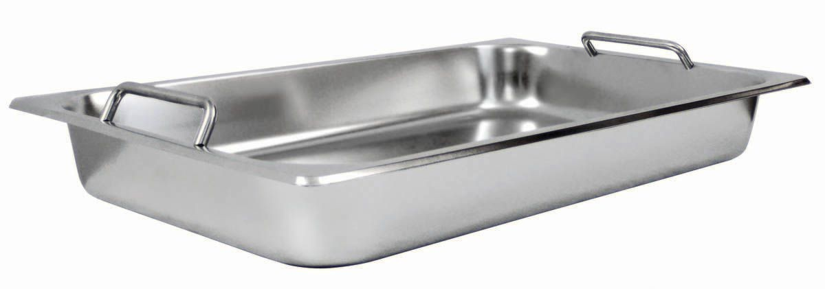 Winco SPF2-HD Full Size Get-A-Grip Steam Table Pan with Handle for C-2080B
