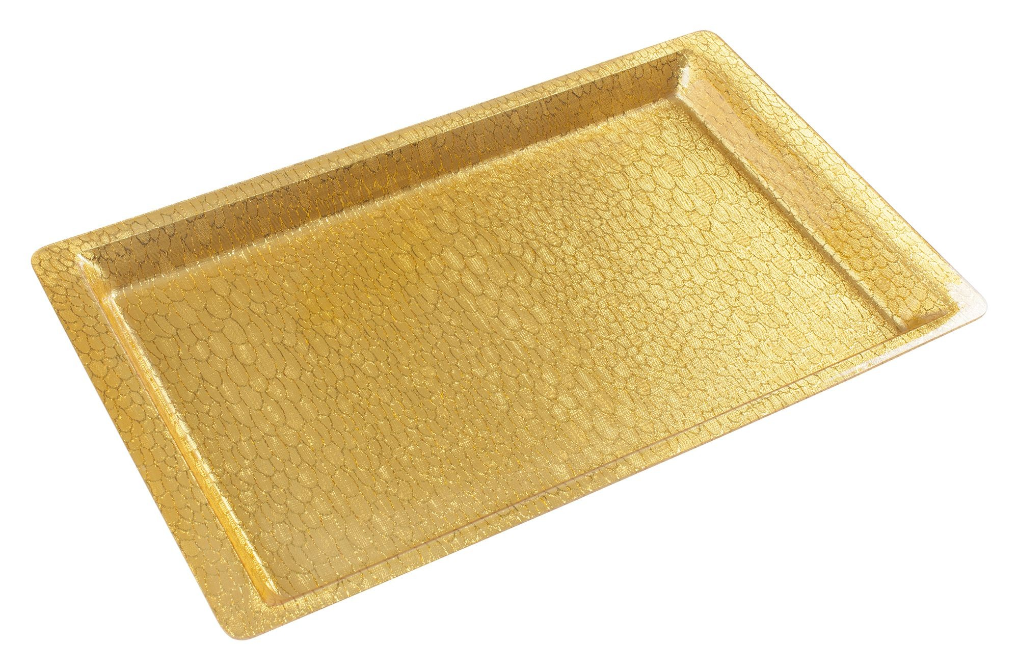 "Gold Full Size Textured Acrylic Display Tray, 20-4/5"" x 12-4/5"""