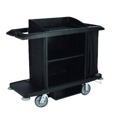 Full Size HouseKeeping Cart with Vinylbag, Black