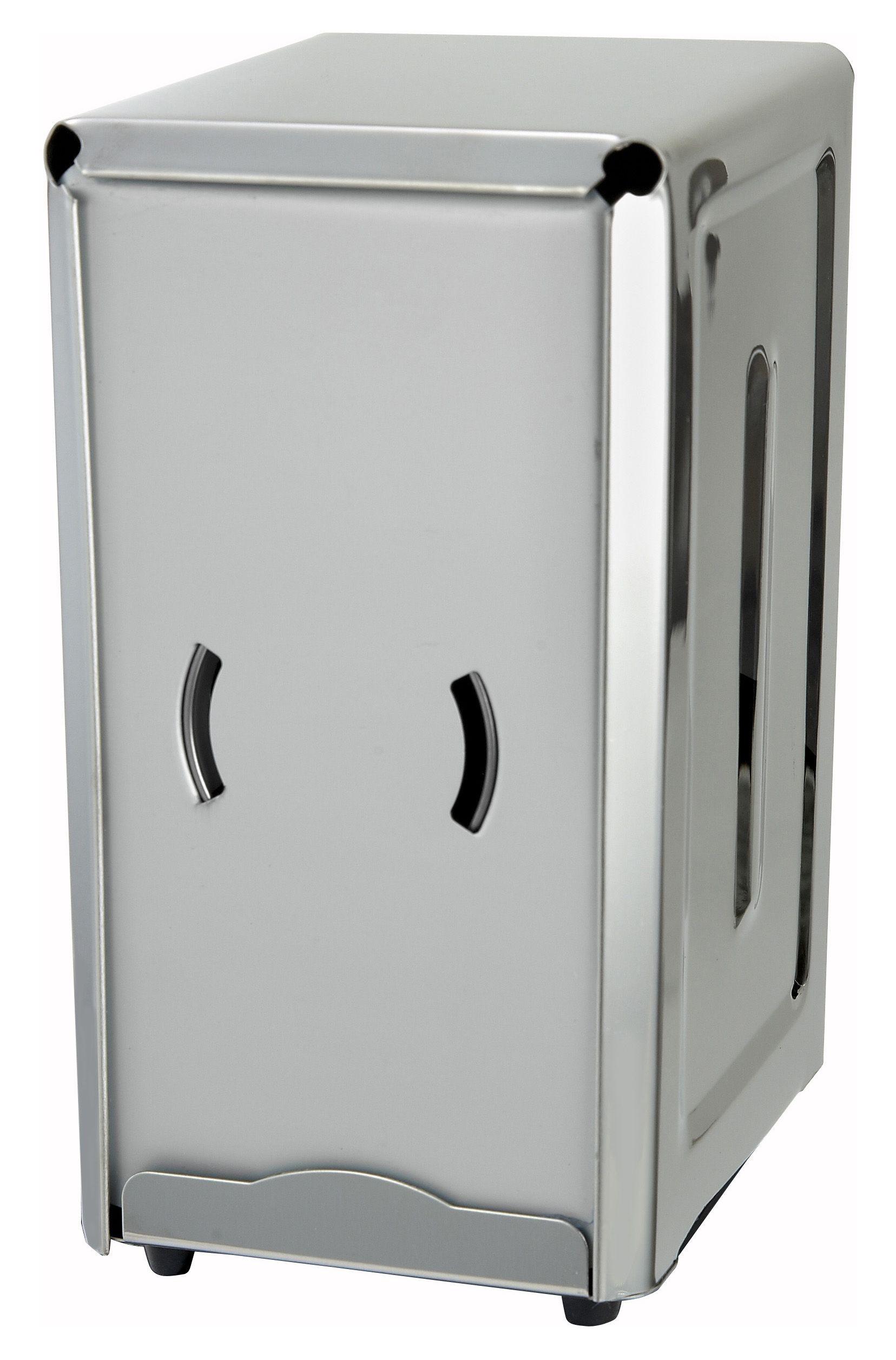 Winco NH-7 Full Size Stainless Steel Napkin Dispenser