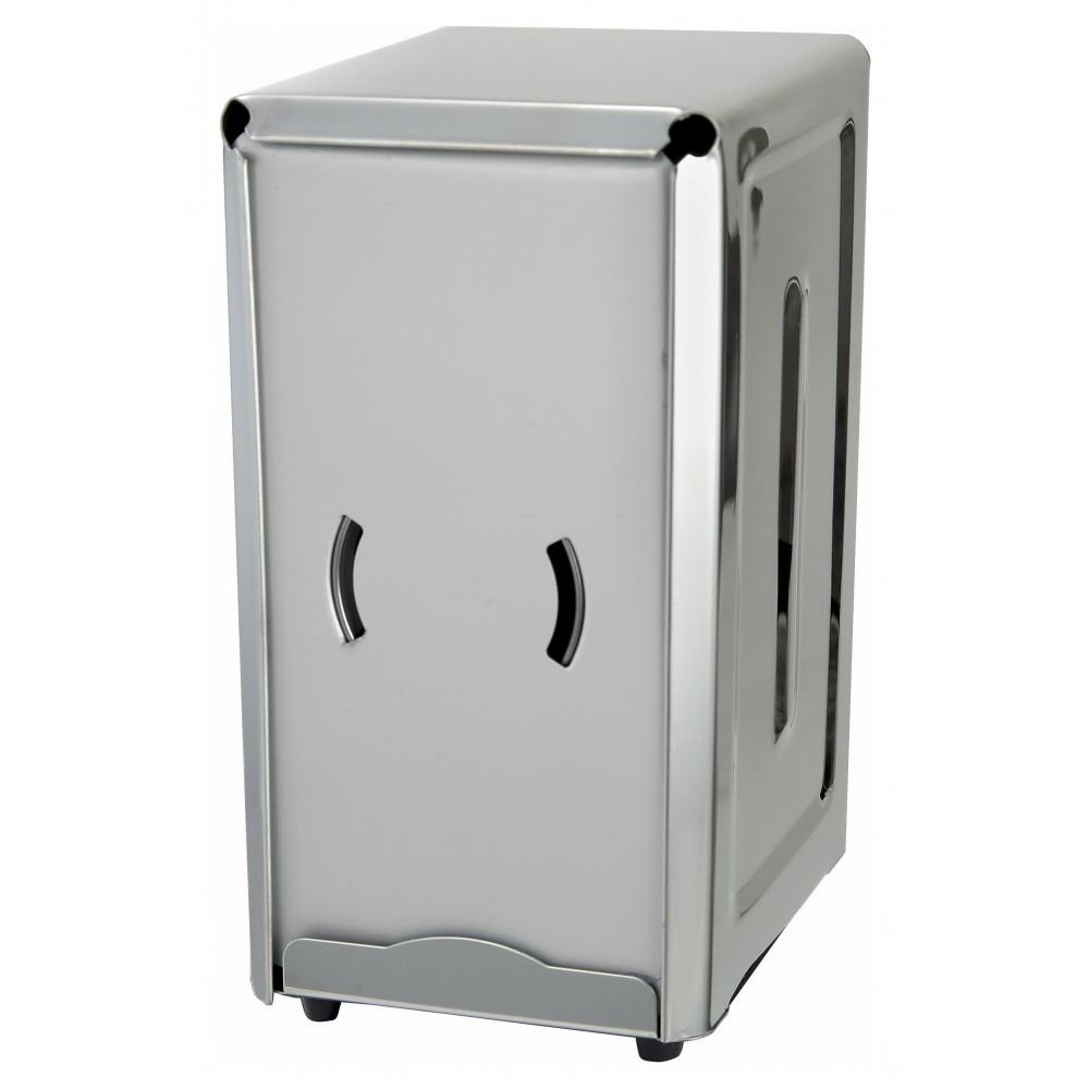 Full Size Stainless Steel Napkin Dispenser For 3-1/2 X 7 Napkins