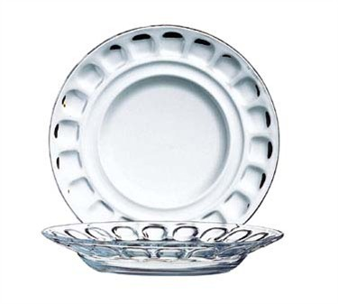 Fully Tempered 10 Oz. Deep Glass Roc Soup/Salad Plate - 9-1/8