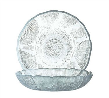 Fully Tempered 10 Oz. Fleur Glass Compote Dish - 5-3/4