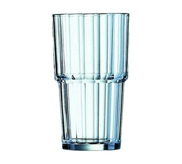 Fully Tempered 11-1/2 Oz. Norvege Stacking Beverage Glass - 5