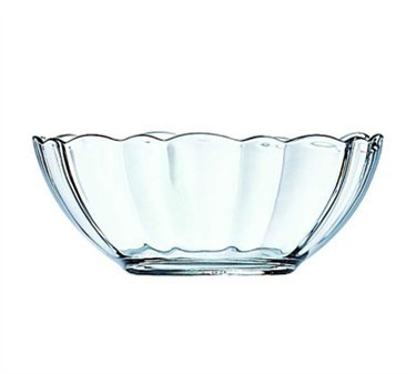 Fully Tempered 11 Oz. Stacking Glass Arcade Bowl With Ridged Edges - 5