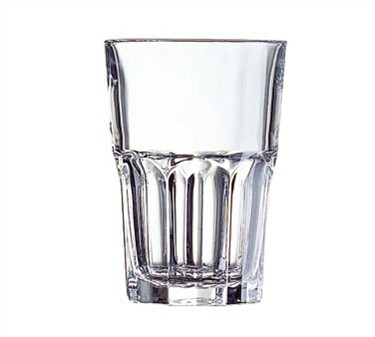 Fully Tempered 12 Oz. Stacking Granite Beverage Glass - 4-7/8