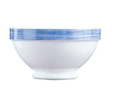 "Cardinal 54699 Arcoroc 17-1/4 oz. Brush Blue Stacking Bowl, 5-1/8"" Dia."